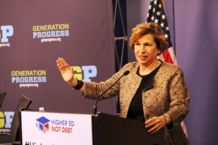 Weingarten at Higher Ed, Not Debt launch